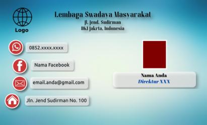 Download Kartu Nama Pakai Inkscape